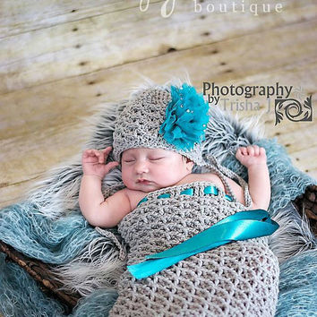 Set of 2 Crochet Patterns for Kylie Baby Bonnet and Cocoon Set - multiple sizes - Welcome to sell finished items