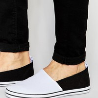 ASOS | ASOS Slip On Sneakers in White Canvas at ASOS