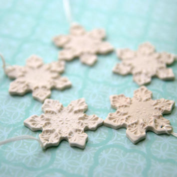 Cristmas ornaments snowflakes set of 5