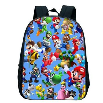 Super Mario party nes switch 12 Inch  Bros Kindergarten Infantile Small School Bags Sonic Bookbags Children Baby Toddler bag Kids Backpack AT_80_8