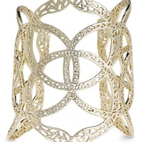 Women's Kendra Scott 'Roni' Filigree Wide Cuff