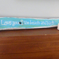 Beach decor, home decor, nautical wall decor, beach sign, wooden wall decor, rustic, coastal decor, driftwood sign, love sign, FREE SHIPPING