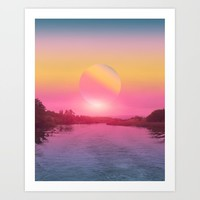 Landscape & gradients XV Art Print by vivianagonzalez