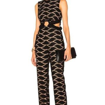 Emerson Black Lace Cut Out Jumpsuit