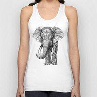 Ornate Elephant Unisex Tank Top by BioWorkZ