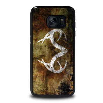 realtree deer camo samsung galaxy s7 edge case cover  number 1