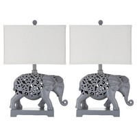 Safavieh Hathi Sculpture Table Lamp (Set of 2)