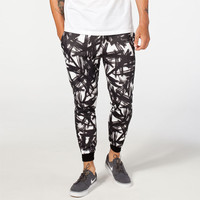 Elwood Paint Brush Mens Jogger Pants Black/White  In Sizes