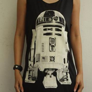 R2D2 STAR WARS shirt robot women vest tank top  from sabinashop