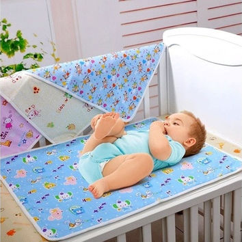 Baby Infant Diaper Nappy Urine Mat Kid Waterproof Bedding Changing Cover Pad [8833441356]