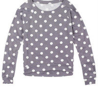 Printed High-Low Pullover Dot
