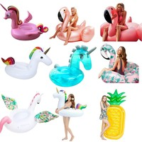 YUYU NEW Flamingo pool float inflatable flamingo swimming pool Pegasus swimming ring Tube pool unicorn Swim ring adult pool toys
