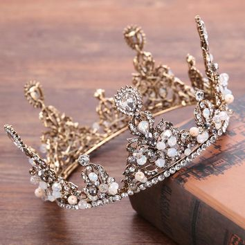 Diadem Queen king tiara crown for Women hair Jewelry handmade Wedding Headdress Prom Crowns and Tiaras Hair accessories
