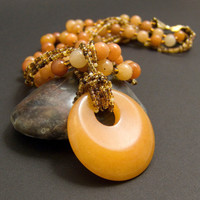 Red Aventurine Gemestone Necklace for Sacral Chakra by AnandaBijoux