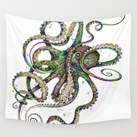 Octopsychedelia Wall Tapestry by TAOJB