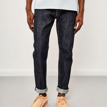 Edwin ED-80, Slim Tapered, Red Listed Selvedge Jeans, Unwashed