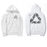 High Quality Mens Palace Skateboard Hoodie Male 100% Cotton Triangle Sweat Palace Sweatshirt White Palace Hoodie
