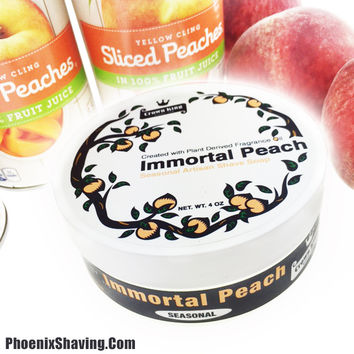 Immortal Peach Artisan Shave Soap - Seasonal - Crown King