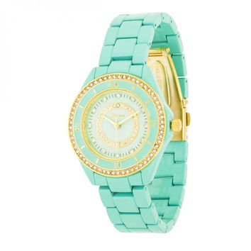 Crystal Fashion Watch - Mint