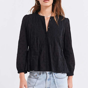 Ecote Arabella Pinktuck Polka Dot Blouse | Urban Outfitters