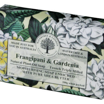 Wavertree & London Bar Soap 7oz - Frangipani-Gardenia