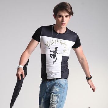 Fashion Men's Fashion Men's Short Sleeve Plus Size T-shirts = 6450244163