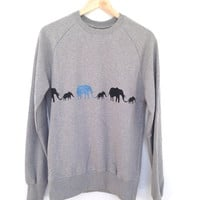 Elephant parade sweatshirt - lovely soft organic cotton sweatshirt with elephants