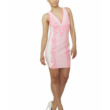 MIRAGE BAROQUE BANDAGE DRESS