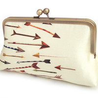 Arrows A Red Ruby Rose original silk clutch bag by redrubyrose
