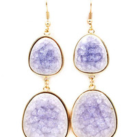 Lilac Porcelain Gabby Earrings | Awesome Selection of Chic Fashion Jewelry | Emma Stine Limited