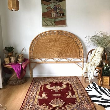 Woven Peruvian Wall Hanging, Vintage Textile Wall Hanging, Landscape Woven Wool Rug, Hand Loomed Wool Rug