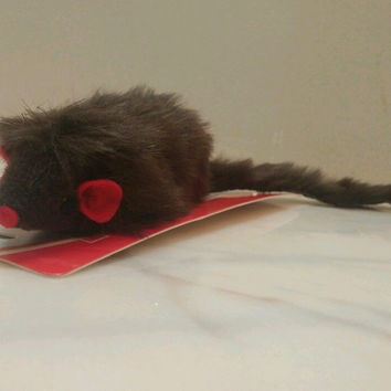 Cat Toy Ferret Brown Fur Exercise Toy New 7 inch plus tail