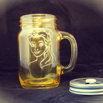 Jeremiah Weed Style Belle (Beauty and the Beast/Disney) Mug / Glass / Tea Light Holder