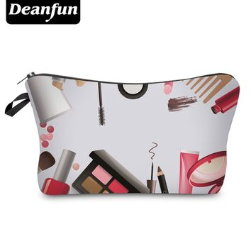Deanfun 3D Printed 2017 Hot Sale Storage Makeup Zipper Polyester Travel Organizer Necessary Women's Fashion Cosmetic Bag 50753