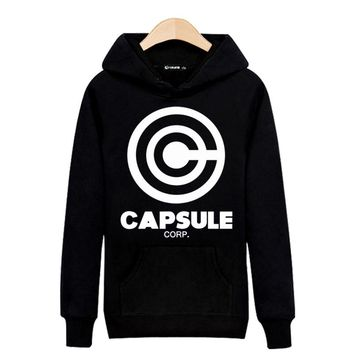Dragon Ball Capsule Hooded Sweatshirt Men Hoodie Autumn Winter Black White Mens Hoodies And Sweatshirts Hip Hop Funny Clothes
