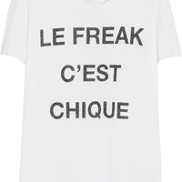 Zoe Karssen - Le Freak C'est Chique cotton and modal-blend T-shirt