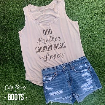 Dog Mother Country Music Lover Women's Tank