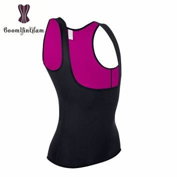 Shoulder Straps Thermo Hot Shapers Neoprene Women Body Slimming Shapewear Waist Trainer Sweat Sauna Vest for Weight Loss 606#