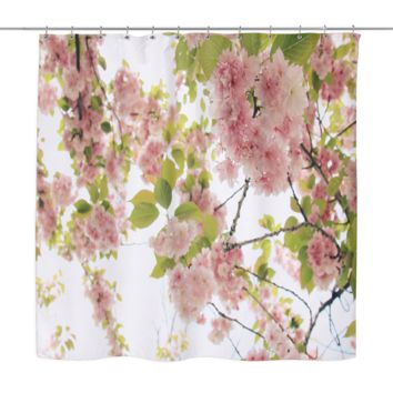 Blooming Cherry Blossoms Shower Curtains