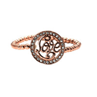 Rose Gold Love Monogram Bracelet