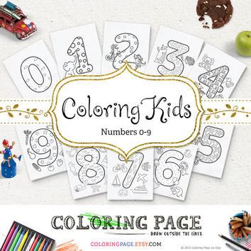 Numbers Coloring Page For Kids Printable Number Instant Download Digital Art Printable Coloring Pages Kids Activity Printable Kids Coloring
