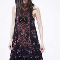 Free People Annka Border Slip Black OB549817