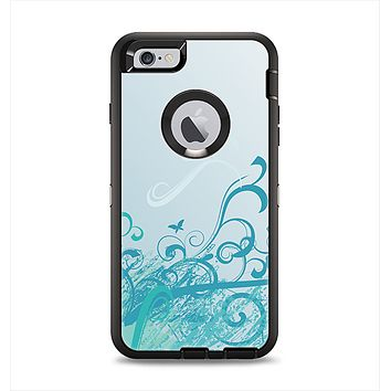 The Escaping Butterfly Floral Apple iPhone 6 Plus Otterbox Defender Case Skin Set