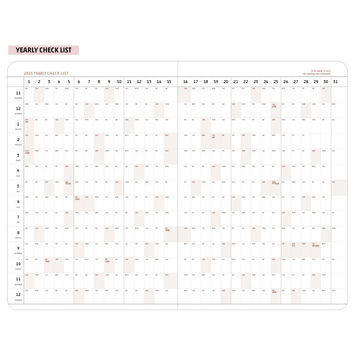 2015 Ardium Eco kraft dated monthly medium planner scheduler