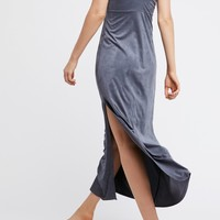Free People Suede Maxi Slip