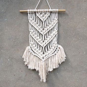 Macrame wall art Macrame wall hanging  Boho fiber art Entry way decor Christmas gift idea Handiwork Handmade macrame Dorm room decor