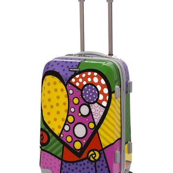 "F151-HEART 20"" Polycarbonate Carry On  Luggage Set"