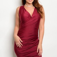 Wrap Party Dress - Plus Size (7 Colors)