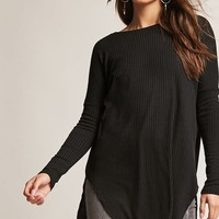 Longline Ribbed Top