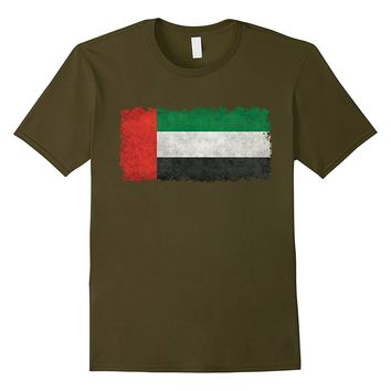 United Arab Emirates Flag T-Shirt in Vintage Retro Style